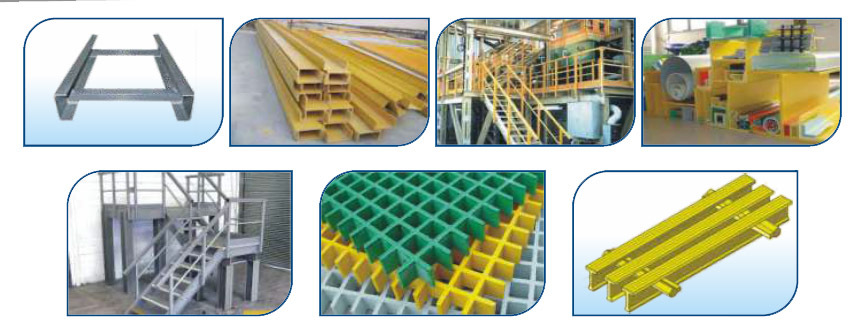 FRP CABLE TRAY, LADERS, CHANNELS & OTHER PULLTRUSION ITEMS